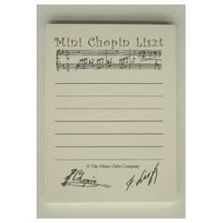 'Chopin Liszt' Shopping List Mini Notepad