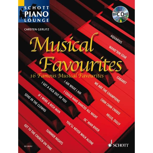 Schott Piano Lounge: Musical Favourites + CD