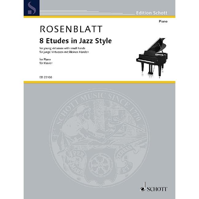 Rosenblatt: 8 Etudes in Jazz Style (Piano)