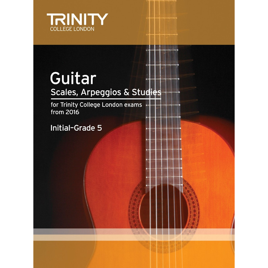 Trinity Guitar Scales, Initial-Grade 5 from 2016