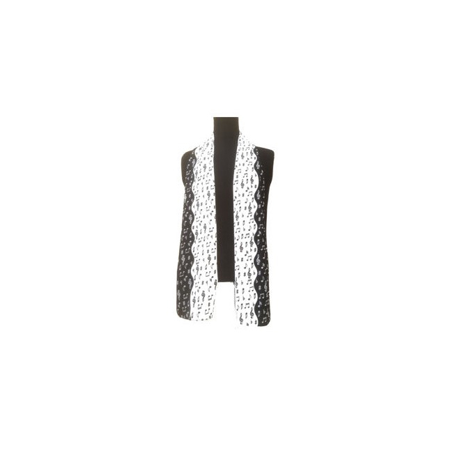 Tie Studio Musical Notes Long Scarf