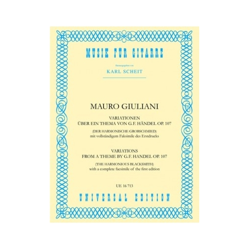Giuliani: Variations Theme Handel Op 107 (Guitar)